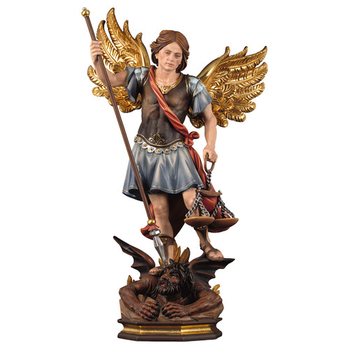 St. Michael the Archangel with Scales Statue | Hand Carved in Italy | Multiple Sizes