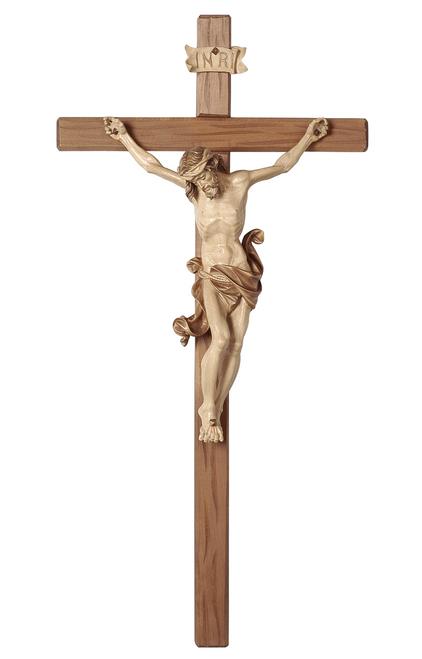 "11"" Leonardo Crucifix Straight Stained 