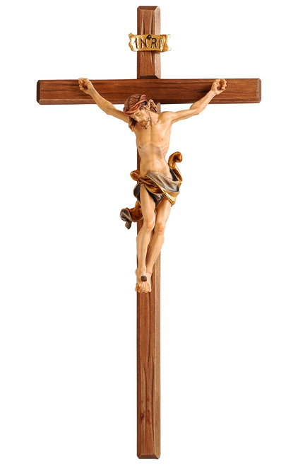 "21"" Leonardo Crucifix Straight Stained Color 