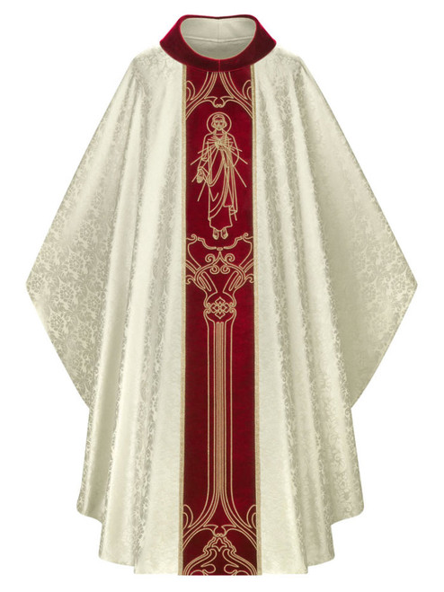 #5288 Divine Mercy Gothic Chasuble | Roll Collar | 100% Poly