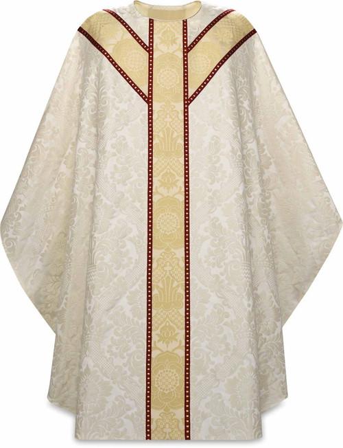 #5238 Woven Brocade Barbara Gothic Chasuble | Plain Neck | 30% Viscose/70% Poly