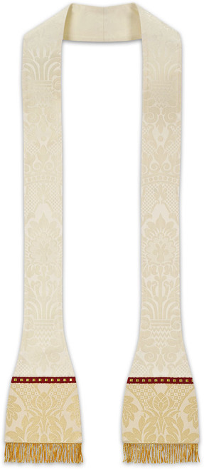 #5238 Woven Brocade Barbara Spaded Roman Stole | Poly/Viscose