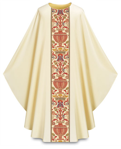 #2749 Regina Coronation Gothic Concelebrants Chasuble | Plain Neck | Poly/Viscose | All Colors