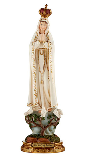 """12"""" Our Lady Of Fatima Statue 