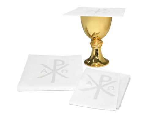 Chi Rho Motif Altar Linens | 100% Linen