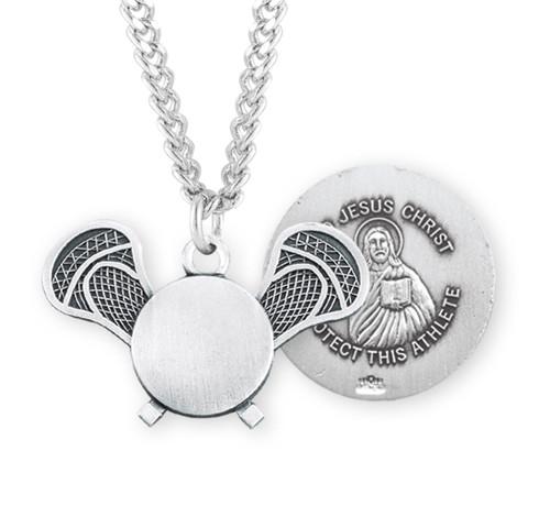 Lord Jesus Christ Sterling Silver Lacrosse Athlete Medal