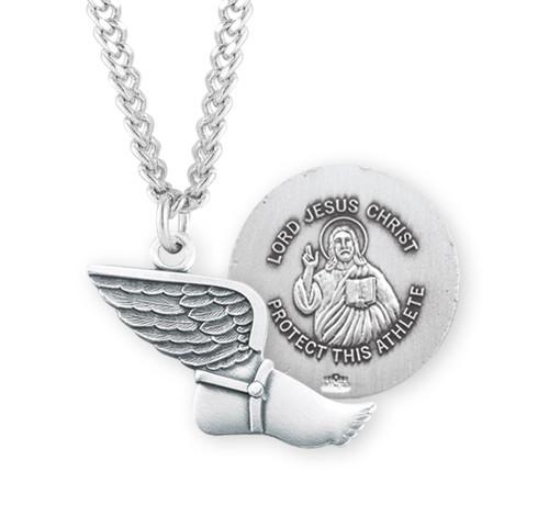 Lord Jesus Christ Sterling Silver Track Athlete Medal