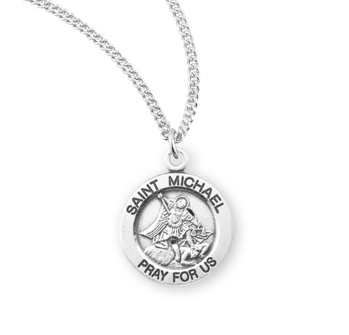Patron Saint Michael Round Sterling Silver Medal | 1