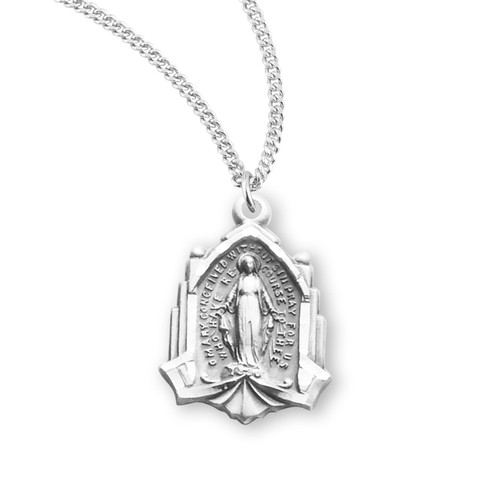 Cathedral Sterling Silver Miraculous Medal