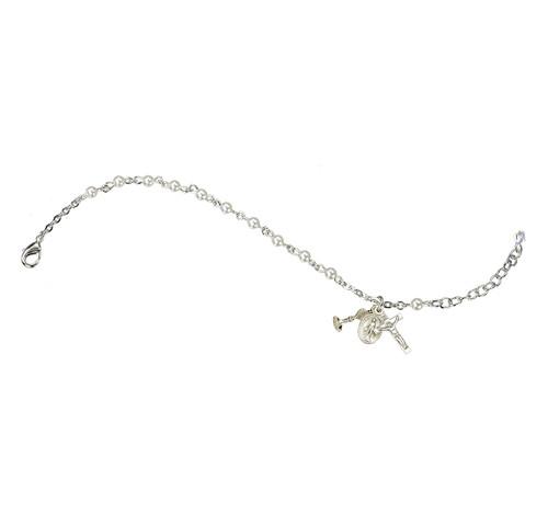 Swarovski Crystal White Pearl Rosary Bracelet