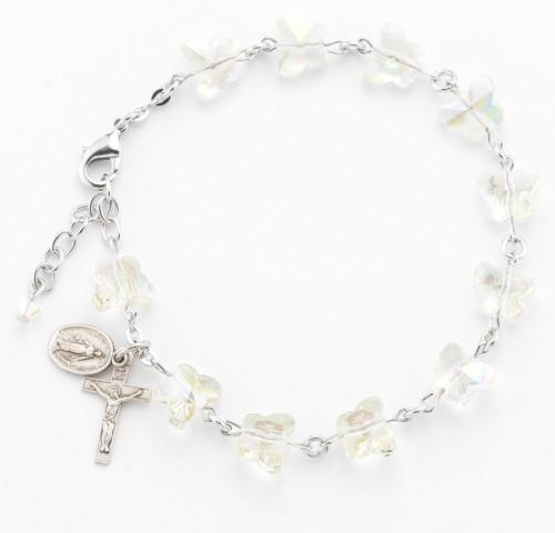 Aurora Butterfly Rosary Bracelet