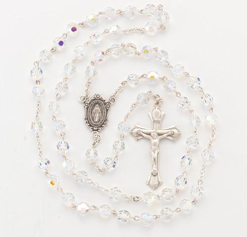 Aurora Swarovski Crystal 7mm Rosary