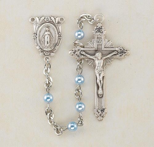 Blue Swarovski Pearl Rosary