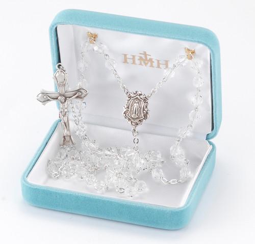 Clear Swarovski Crystal Rosary