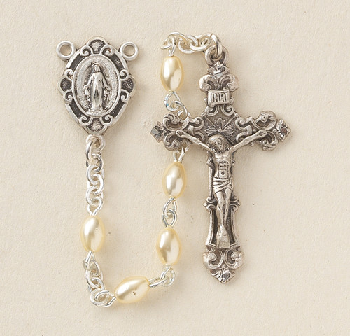Faux Pearl Rosary