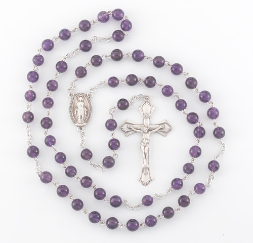 Genuine Amethyst Sterling Rosary
