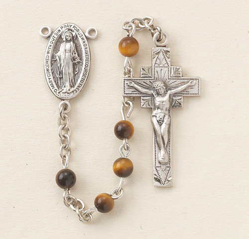 Genuine Tiger Eye Rosary