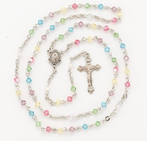 Multi Color Swarovski Crystal Rosary