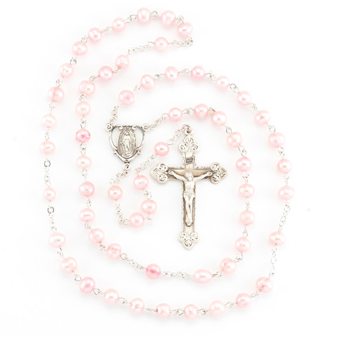 Pink Freshwater Pearl Rosary | 6mm Beads