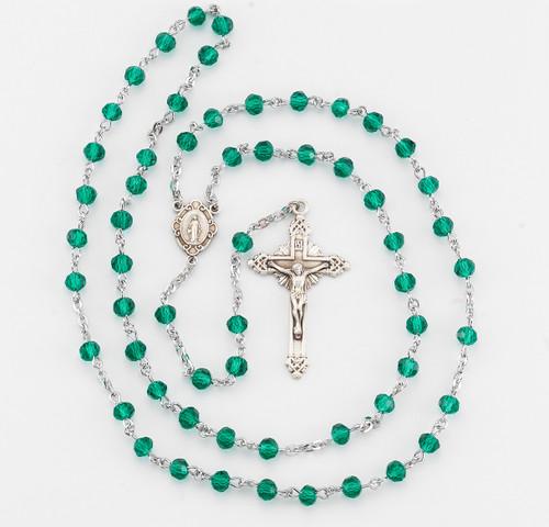 Round Emerald Bead Rosary