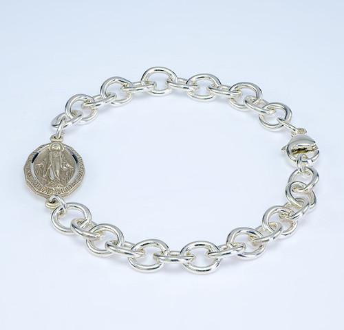 Solid Sterling Silver Heavy Link Bracelet