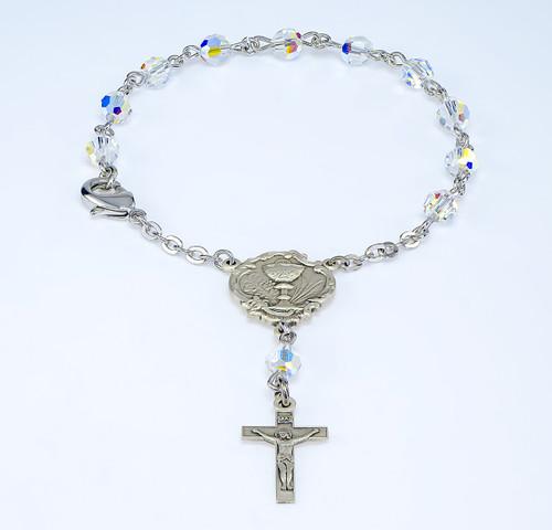 Swarovski Crystal Aurora Borealis Rosary Bracelet