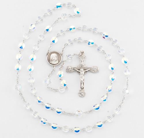 Swarovski Crystal Sterling Silver Rosary