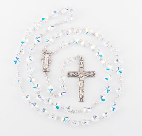 Swarovski Red Crystal Heart Bead Rosary