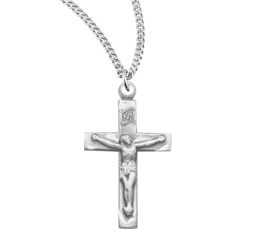 Basic Narrow Sterling Silver Crucifix
