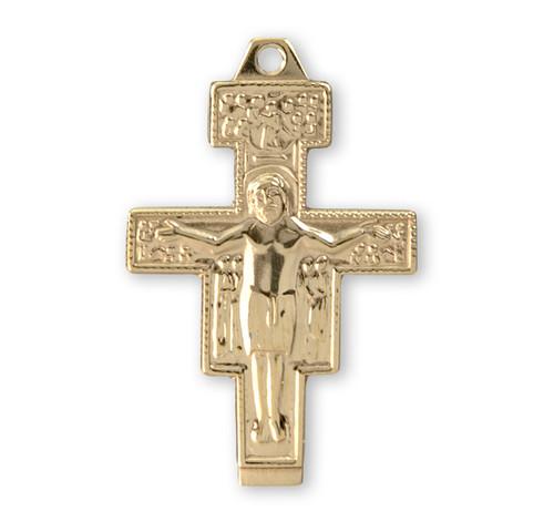 San Damiano 14kt Gold Crucifix