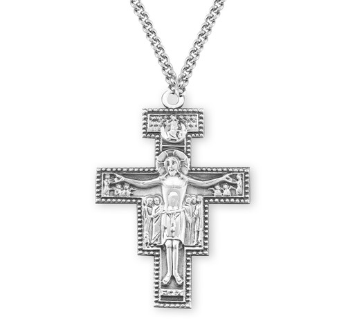 "San Damiano Crucifix   27"" Chain"