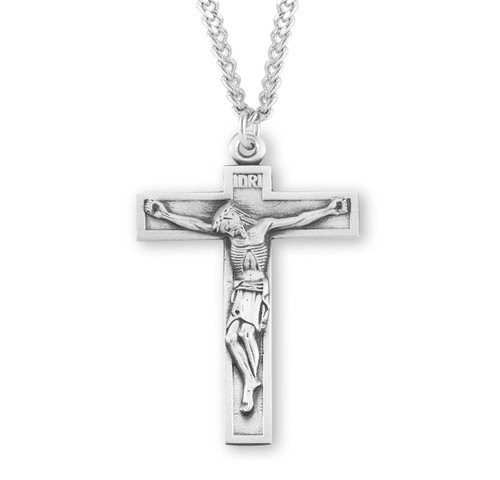 """Short Top Sterling Silver Crucifix 