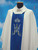 #320 Embroidered Marian Panel Chasuble | Square Collar | 100% Poly