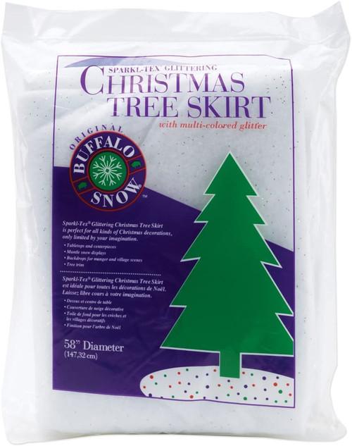 "Buffalo Snow 60"" Tree Skirt"