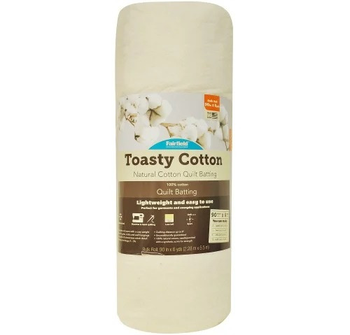 Toasty Cotton natural quilt batting with scrim