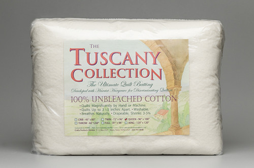 Hobbs Tuscany Unbleached 100% Natural Cotton Batting