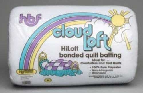 Hobbs CloudLoft High Loft Polyester Quilt Batting.  Due to it's size this product is very expensive to ship. You might want to consider a Quilt King product.  Shipping is a little less expensive. Very similar product.