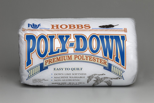 "Hobbs Poly-Down Low Loft Polyester Quilt Batting Approx. 0.25"" loft"