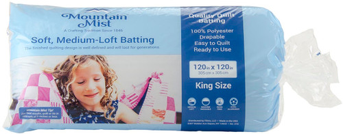 Mountain Mist Quality Quilt Batting 100% Polyester