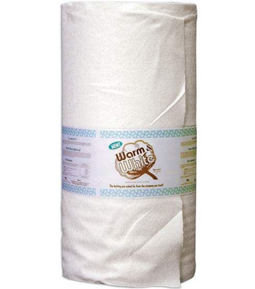 The Warm Company Warm and White Bleached cotton quilt batting by the roll