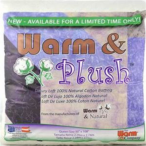 The Warm Company Warm and Plush Cotton Quilt Batting