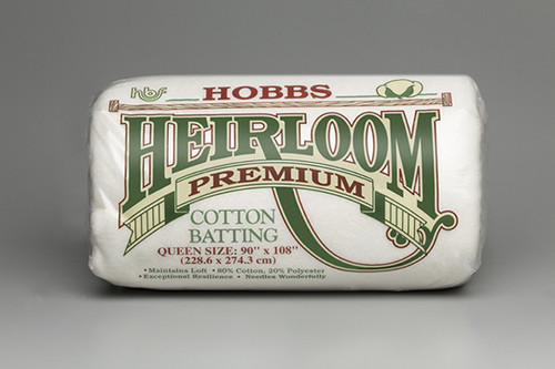 Hobbs premium heirloom 80/20 cotton/polyester quilt batting