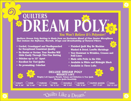 Quilters Dream Poly Deluxe - Weighty Loft