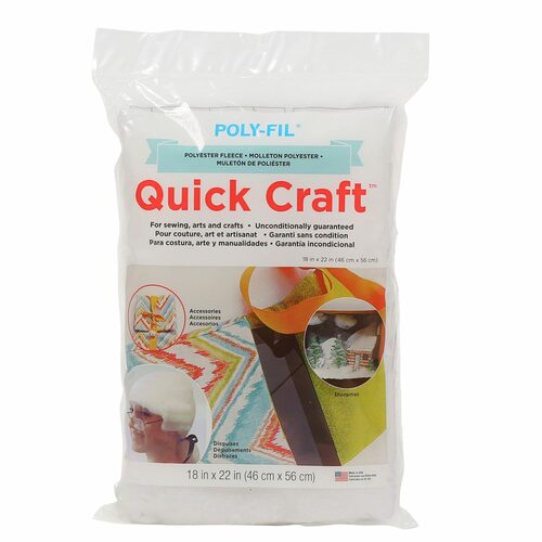 "Fairfield Poly Fil Quick Craft Polyester Fleece (18"" x 22"")"
