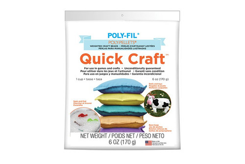 Quick Craft Poly Pellets® Weighted Stuffing Beads - 6 oz. Bag