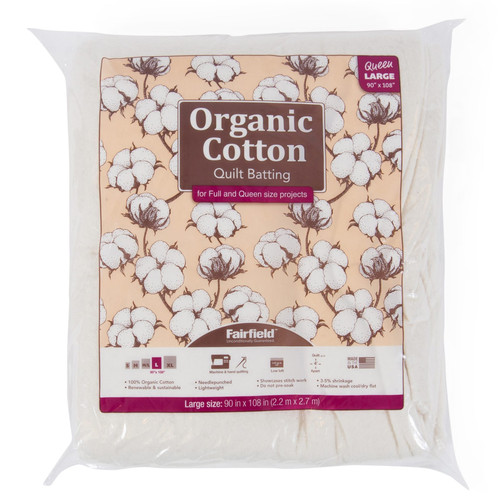 Organic Cotton Needlepunched Quilt Batting queen package