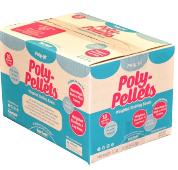 Poly-Fil Poly Pellets weighted stuffing beads 10 lb box