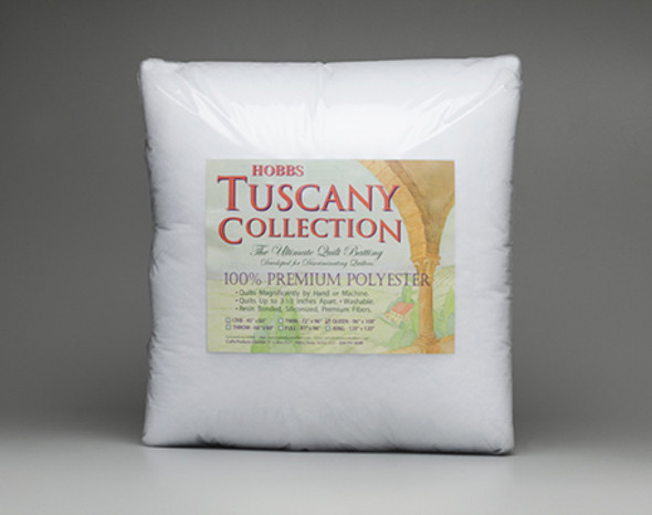 Hobbs Tuscany Polyester Batting Resin Bonded Siliconized 100% Polyester