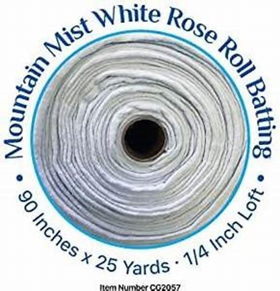 Mountain Mist White Rose Cotton Quilt Batting
