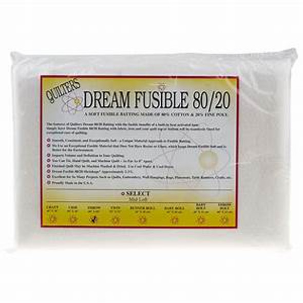 Quilters Dream Fusible 80/20 Cotton/Poly Quilt Batting Fusible webbing